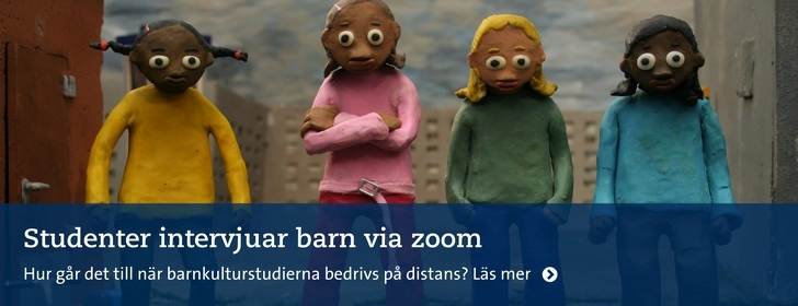 Studenter möter barn via zoom